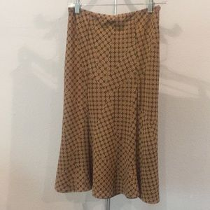 Flowing Skirt with Neutral Brown Pattern-Small